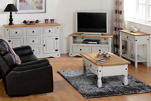 Corona Grey and Waxed Pine Top Livingroom Range Sideboard TV units Coffee Table
