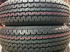 2 New Premium Cargo Master ST205/75R14 D 8 Ply Steel Belted Radial Trailer Tire