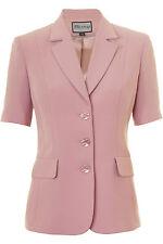 Busy dusty pink kurzarm Damen Jacke Blazer