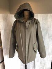 Firetrap Mens Khaki Green Waterproof Coat With Hood & Pockets Large Immaculate