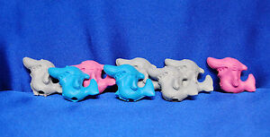 8 Shark Erasers Shark Pencil Toppers Shark Party Favors