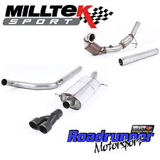 Milltek Turbo Back Exhaust Polo GTI 1.8 TSi 192PS & Downpipe Cat Non Res Black