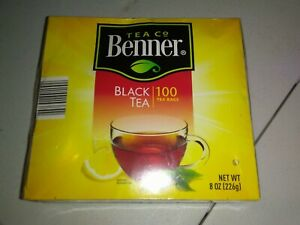 Tea Benner  Blend Black -100 Bags individually wrapped.