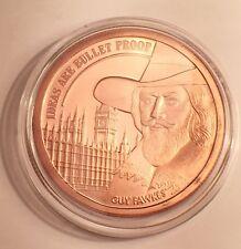 "2016 UK 1 OZ ""GUY FAWKS"" 999.0 Pure Copper Bullion Coin/token in Ac/Capsule"