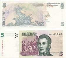 Argentinien / Argentina - 5 Pesos (2003) UNC - Pick 353, Serie I