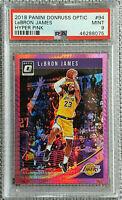 2018-19 Donruss Optic LeBron James Hyper Pink Prizm #94 1st Lakers PSA 9 MINT