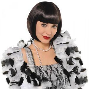 Flapper Girl Wig Adult Womens 1920s Halloween Costume Fancy Dress