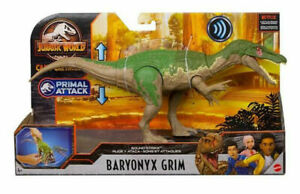 JURASSIC WORLD PARK Camp Cretaceous BARYONYX GRIM Primal Attack Dinosaur
