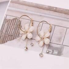 Women Flower Dangle Earrings Petals Crystal Drop Earrings Jewelry Earings Z