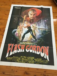 "FLASH GORDON 1980 Unused italian movie poster 4 Sheet 55"" x 79"" 140x200cm"