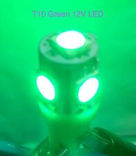 10 PC New T10 Wedge High Power Bright Green LED 12V 5W Lamp Bulbs For Sale