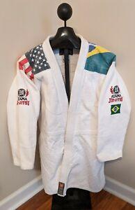 Atama A4 Men's Gi With Flag Brazil USA Jiu-Jitsu JiuJitsu Fits like Size XL