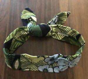 Girl Gymboree Costa Rica Flower Butterfly Hair Headband Headscarf Scarf Tropical