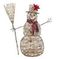 Sylvania Outdoor Decor 48 Inch Grapevine Snowman, 100 Clear Lights