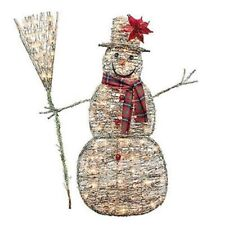 Sylvania Outdoor Decor 48 Inch Grapevine Snowman, 100 Clear Lights