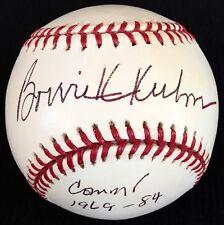 """""""RARE INSCRIPTION"""" Bowie Kuhn dec07 HOF 08 PSA/DNA Signed Baseball Commissioner"""