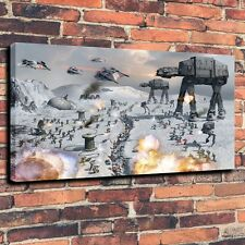 At Hoth Star Wars Art Print Oil Painting on Canvas Home Decor 16x24