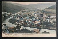 AK Litho Gruss aus MEGGEN das romantische Lennethal gestempelt Meggen 1907