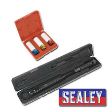 "Sealey unidad 1/2""SQ Llave Dinamométrica AK624B + SX031 impacto Socket Set 1/2"" Sq Dr"