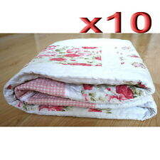 10pc Wholesale Patchwork Pattern Reversible Cotton Blanket Quilted Throw 1.5m