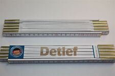 Zollstock mit Namen     DETLEF    Lasergravur 2 Meter Handwerkerqualität