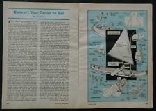 Convert a Canoe to Sailboat HowTo PLANS easy to remove Sail Rig