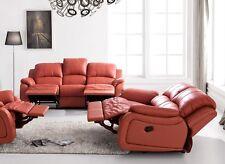 Voll-Leder Couch Sofa Garnitur Relaxsessel Fernsehsessel 5129-3+2-206