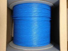 Cat6 Plenum Bulk 1000ft Solid Pure Copper Ethernet Network Solid Cable Blue