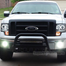 """For 2004-2019 Ford F150 Expedition 3"""" Black S/S Bull Bar Push Guard+Skid Plate"""