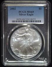 2002 PCGS MS69 AMERICAN EAGLE Walking Liberty Silver Dollar Coin