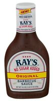 New Sweet Baby Ray's BBQ No Sugar Added Original Barbecue Sauce 18.5 oz Bottle