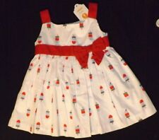 NEW girls GYMBOREE Star Spangled Days July 4 Popsicle Print Dress Size 0/3 month