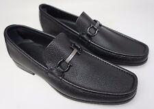 Salvatore Ferragamo Regal Pebbled Leather Loafer Black Shoes Size 9 D $550 NIB!!