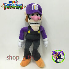 Super Mario Tennis Open Plush Waluigi Soft Toy Stuffed Animal Doll Teddy 11""