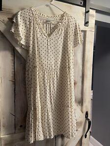 Old Navy Women's Black & White Polka Dot Dress