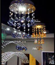 Rain Drop K9 Crystal LED Pendant Lamp Lighting Ceiling Light Chandelier Room