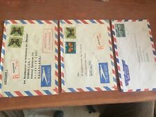 Netherlands Antilles and Suriname airmail letters to major of Rijswijk rare item