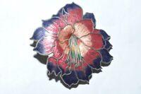VIBRANT VINTAGE CLOISONNE ENAMEL FLOWER BROOCH