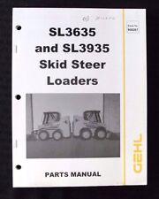 GENUINE GEHL SL3635 SL3935 TRACTOR SKID STEER LOADER PARTS MANUAL CATALOG