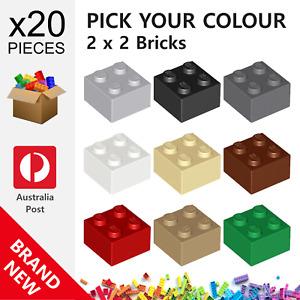 20x Genuine LEGO™ - 2 x 2 Bricks - 3003 6223 35275 New Brick Parts