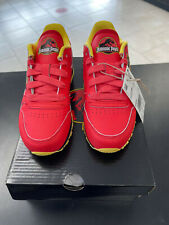 NEW! Jurassic Park Red Reebok Classic Leather Kids Size 11 Rare Collaboration!