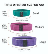 Fabric Resistance Bands Heavy Duty Booty Bands Hip Circle Glute Leg  Anti-Slip