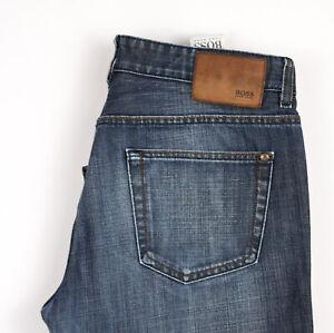 HUGO BOSS Men Kansas Straight Leg Jeans Size W34 L32 APZ735