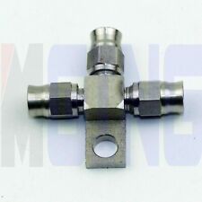 T Tee 3 way Female AN3 -3 AN Brake Line Fitting Adaptor Splitter Locating lug