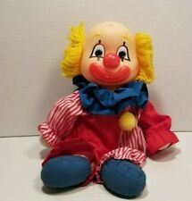 DAKIN Doll Circus Clown Happy Sad Face Cheery Dreary Two-Faced 80's Vintage