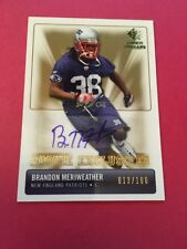 Brandon Meriweather Patriots 2007 SP Rookie Threads Exclusives Auto#RE-BM 13/100