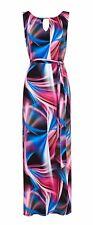 Fuschia Swirl Print Maxi Dress 12