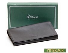 NEW Peterson Roll Up Pipe Tobacco Pouch Leather Boxed Black 134