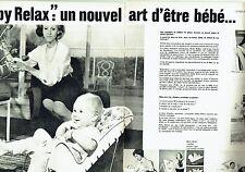 Publicité Advertising  0817  1962  siège Baby- Relax  bébé ( 2pages)