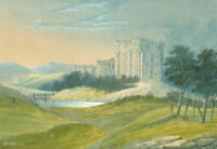 H. Williams - Early 20th Century Watercolour, Castle in a Landscape